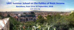 UBIE Summer School on the Politics of Basic Income - Barcelona (ES) @ venue will follow